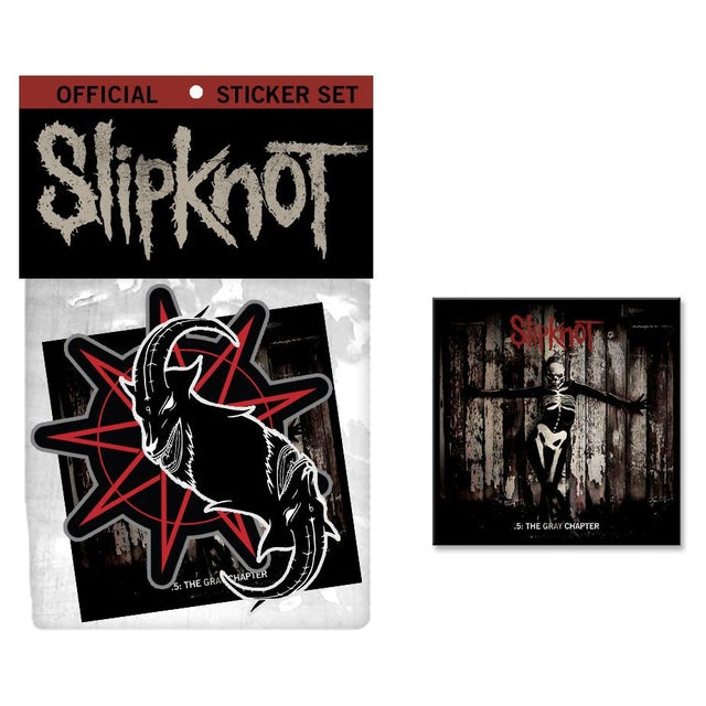 Slipknot .5: The Gray Chapter Sticker/Music Bundle