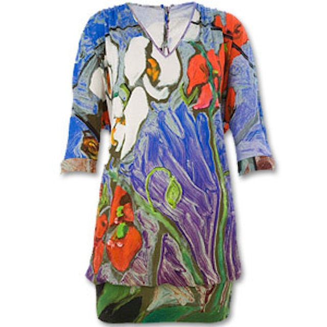 Blue Orchid Bat Dress, Ronnie Wood for Liberty of London