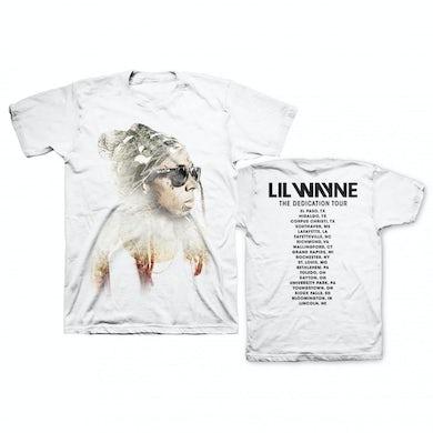 Lil Wayne Sketch Photo White Tour Tee