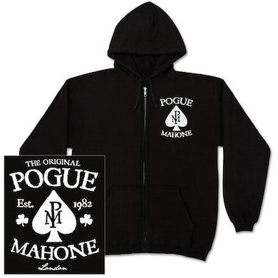The Pogues Black Spade Zip Hoodie