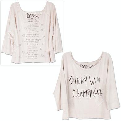 Semi Precious Weapons Ladies' Lyrics Cloak Shirt