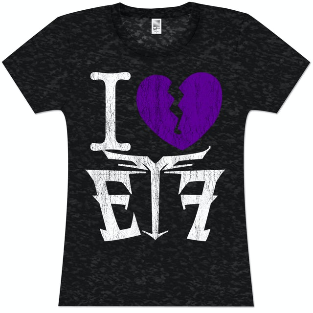 Escape The Fate I (Heart) ETF Girlie T-Shirt