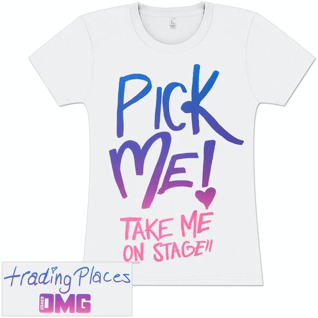 Usher Pick Me Tri-Color Girlie T-Shirt