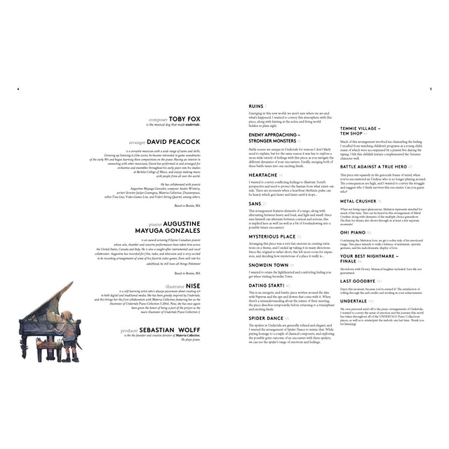 Toby Fox Undertale Piano Collections 2 Physical Sheet