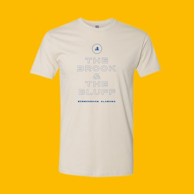 The Brook & The Bluff T-Shirt - Off-White w/ Blue Lettering