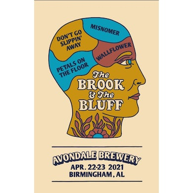 The Brook & The Bluff Yard Sale (Side A) Release Show Poster