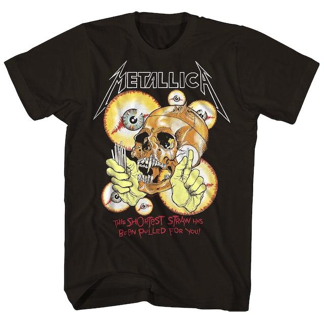 Metallica T-Shirt | Shortest Straw Skulls T-Shirt (Vintage Reissue)