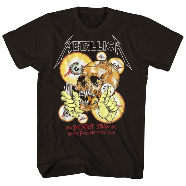 Metallica T-Shirt | Shortest Straw Skulls T-Shirt (Vintage Reissue)