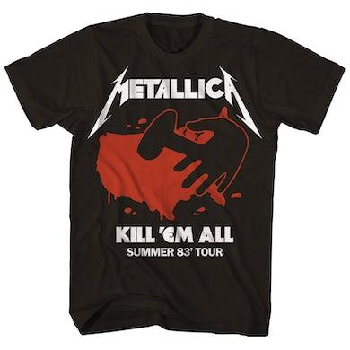 Metallica T-Shirt | Kill 'Em All Summer 83' Tour T-Shirt (Reissue) Metallica Shirt