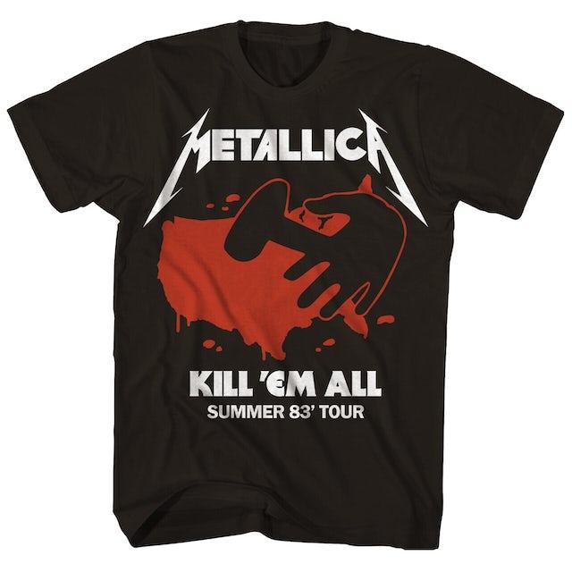 Metallica T-Shirt | Kill 'Em All Summer 83' Tour T-Shirt (Reissue)
