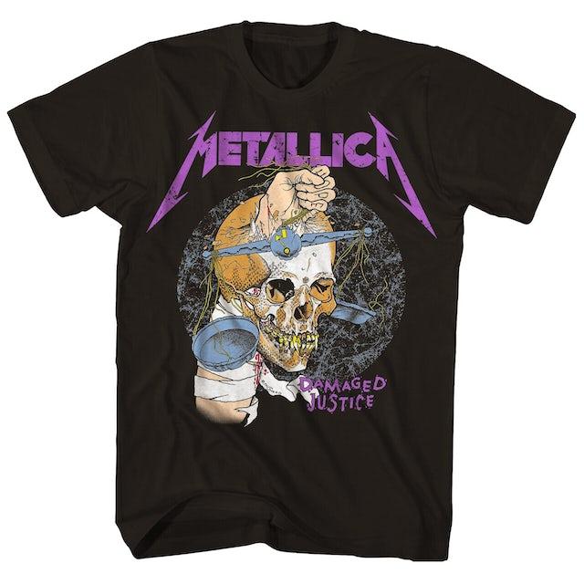 Metallica T-Shirt   Damaged Justice 88' Tour T-Shirt (Reissue)