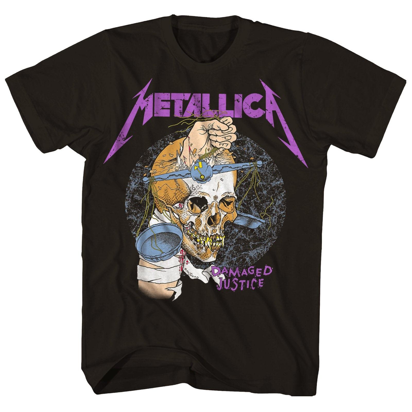 T-shirt Femme Rock Metallica Damaged Justice Style vintage Neuf