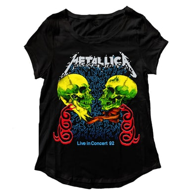Metallica T-Shirt | Live In Concert '92 Tour T-Shirt (Women's Cut)