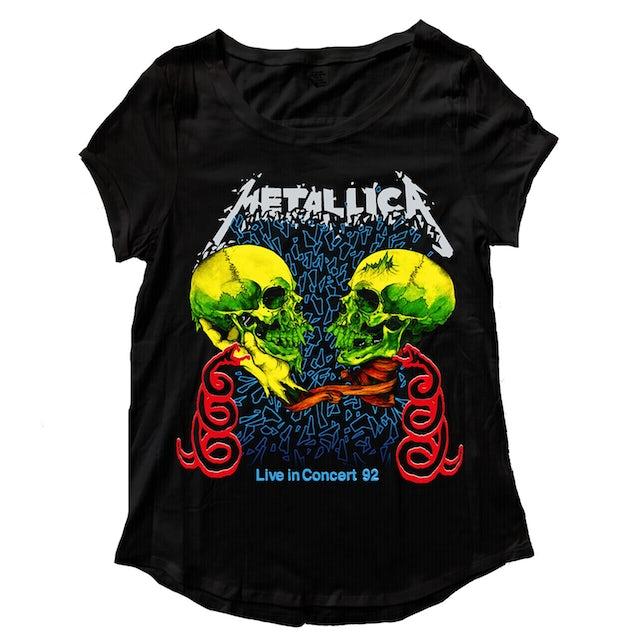 Metallica T-Shirt   Live In Concert '92 Tour T-Shirt (Women's Cut)