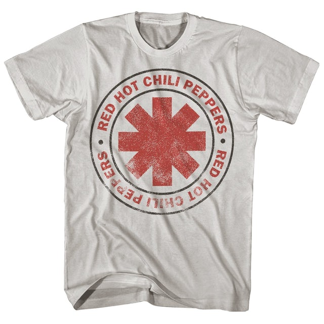 Red Hot Chili Peppers T-Shirt   Distressed Logo T-Shirt