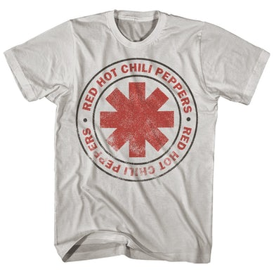 Red Hot Chili Peppers T-Shirt | Distressed Logo Red Hot Chili Peppers Shirt
