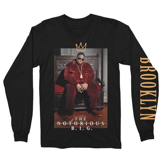 The Notorious B.I.G. Long Sleeve Shirt | King Of Brooklyn Notorious BIG Long Sleeve Shirt