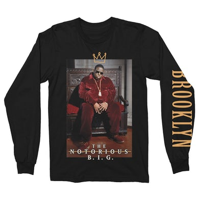 The Notorious B.I.G. Long Sleeve Shirt   King Of Brooklyn Notorious BIG Long Sleeve Shirt