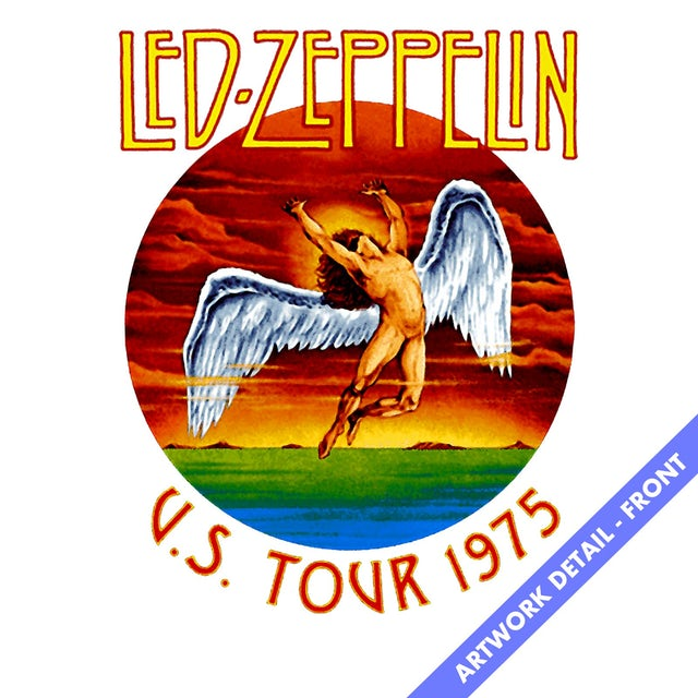Led Zeppelin Long Sleeve | Icarus '75 US Tour Tie Dye Led Zeppelin Long Sleeve Shirt (Reissue)