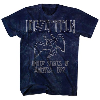 Led Zeppelin T-Shirt | Icarus '77 US Tour Tie Dye Led Zeppelin Shirt (Reissue)