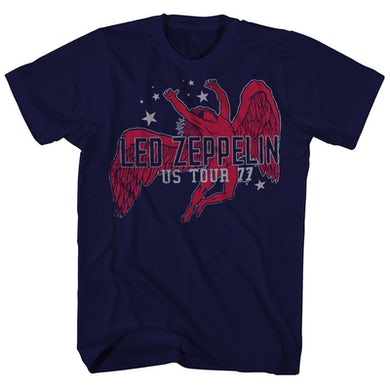Led Zeppelin T-Shirt | Icarus Stars '77 US Tour T-Shirt (Reissue)