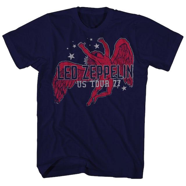 Led Zeppelin T-Shirt | Icarus Stars '77 US Tour T-Shirt (Reissue)