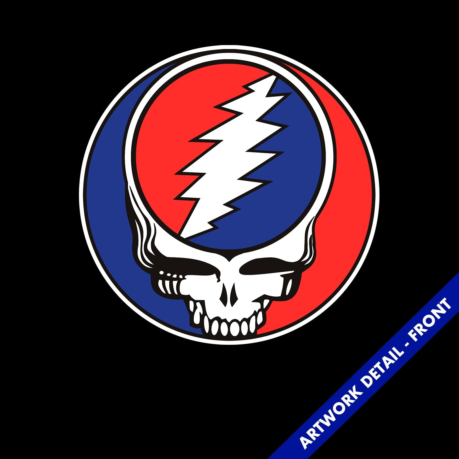 Adult Turquoise Music The Grateful Dead Steal Your Face Skull Logo T-shirt Tee