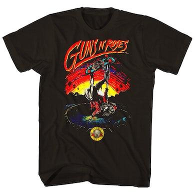 Guns N' Roses T-Shirt | Skeleton Skater Guns N' Roses Shirt