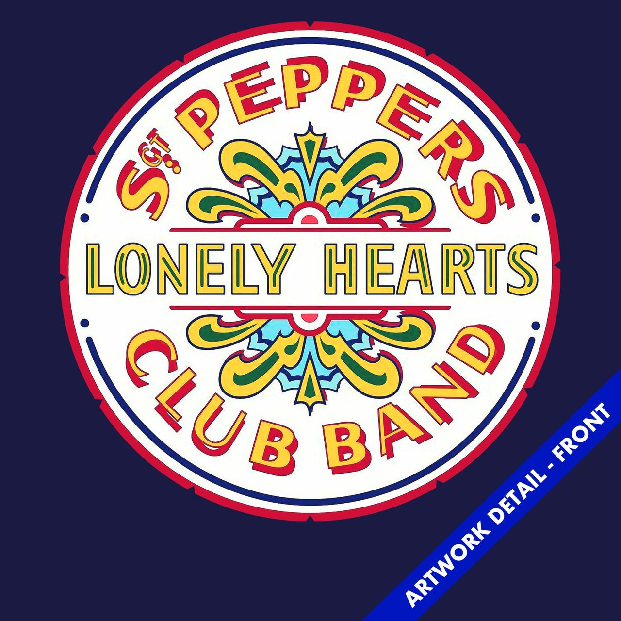 The Beatles T-Shirt | Sgt  Pepper's Lonely Hearts Club Band Logo The  Beatles T-Shirt