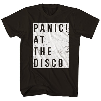 Panic At The Disco T-Shirt   Distressed Square Logo Panic At The Disco Shirt