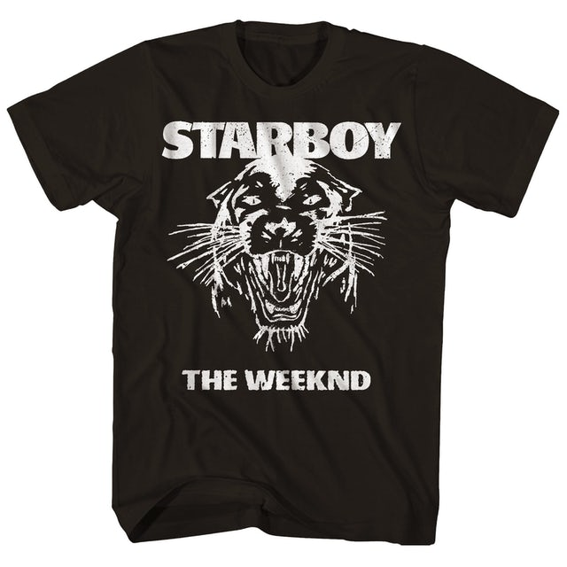 The Weeknd T-Shirt | Starboy Tour Panther Logo The Weeknd T-Shirt