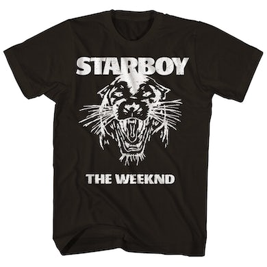 The Weeknd T-Shirt | Starboy Tour Panther Logo The Weeknd Shirt