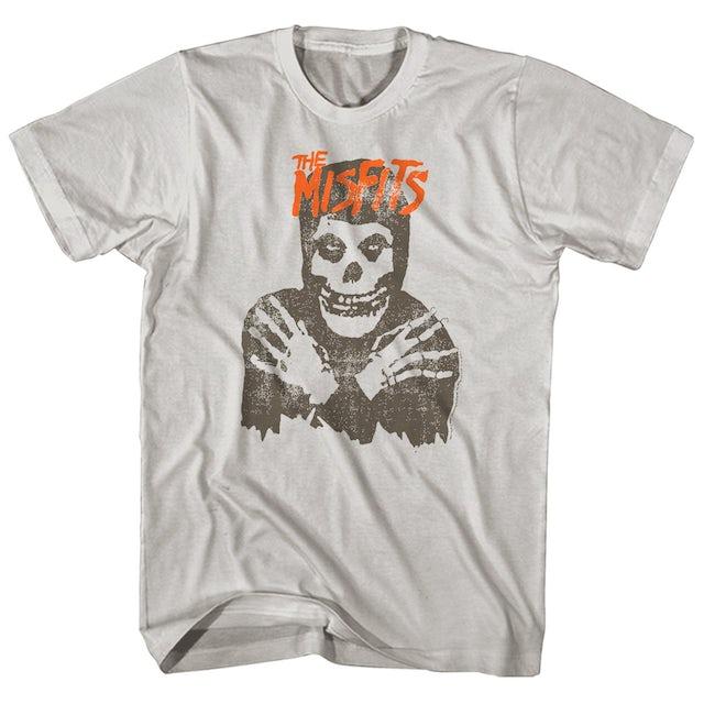 The Misfits T-Shirt   Distressed Skull Logo Misfits T-Shirt