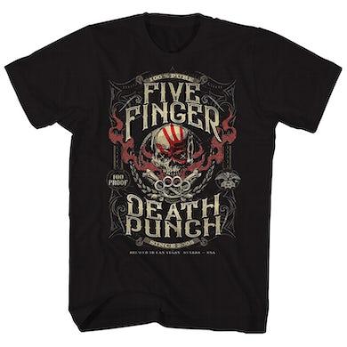 Five Finger Death Punch T-Shirt | 100 Proof Label Five Finger Death Punch T-Shirt