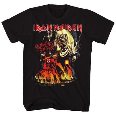 Iron Maiden T-Shirt | Number Of The Beast Album Art Iron Maiden T-Shirt