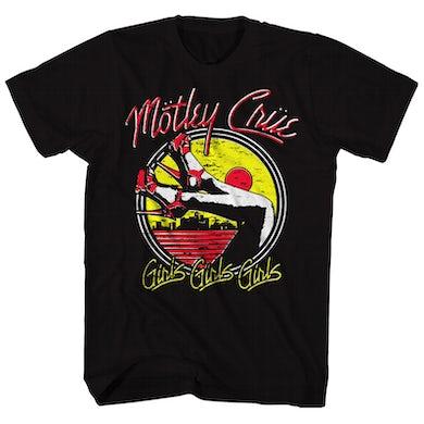 Mötley Crüe T-Shirt | Girls Girls Girls Heels Motley Crue T-Shirt