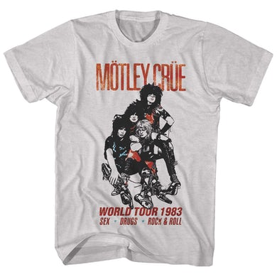 Mötley Crüe T-Shirt | World Tour '83 Motley Crue Shirt (Reissue)