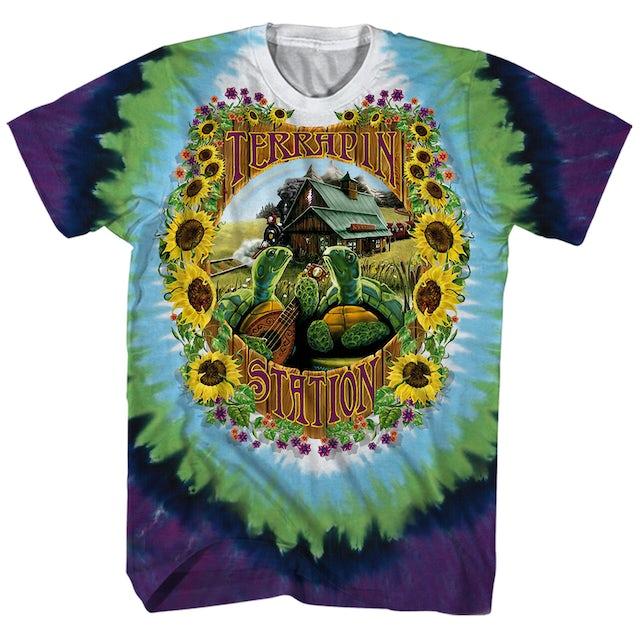 Grateful Dead T-Shirt   Terrapin Station Album Art Tie Dye Grateful Dead T-Shirt