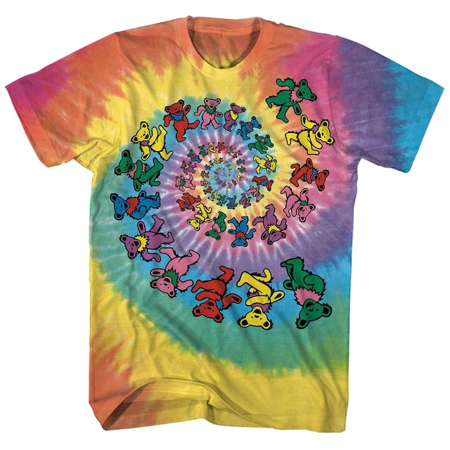 Grateful Dead T-Shirt | Dancing Bears Spiral Tie Dye Grateful Dead T-Shirt