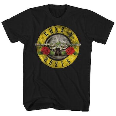 Guns N' Roses Guns N' Roses T-Shirt | Distressed Bullet Logo Guns N' Roses T-Shirt