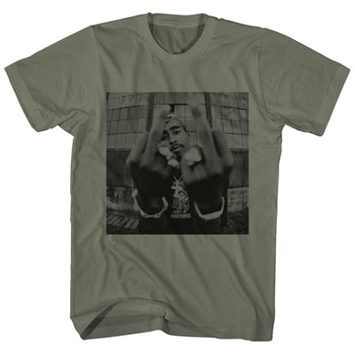 Tupac T-Shirt | Middle Fingers Up Tupac T-Shirt