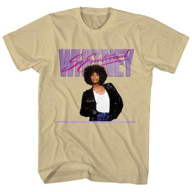 Whitney Houston T-Shirt   So Emotional Art Whitney Houston T-Shirt
