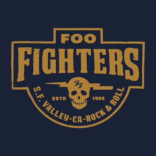 Foo Fighters T-Shirt | S.F. Valley Logo Foo Fighters Shirt