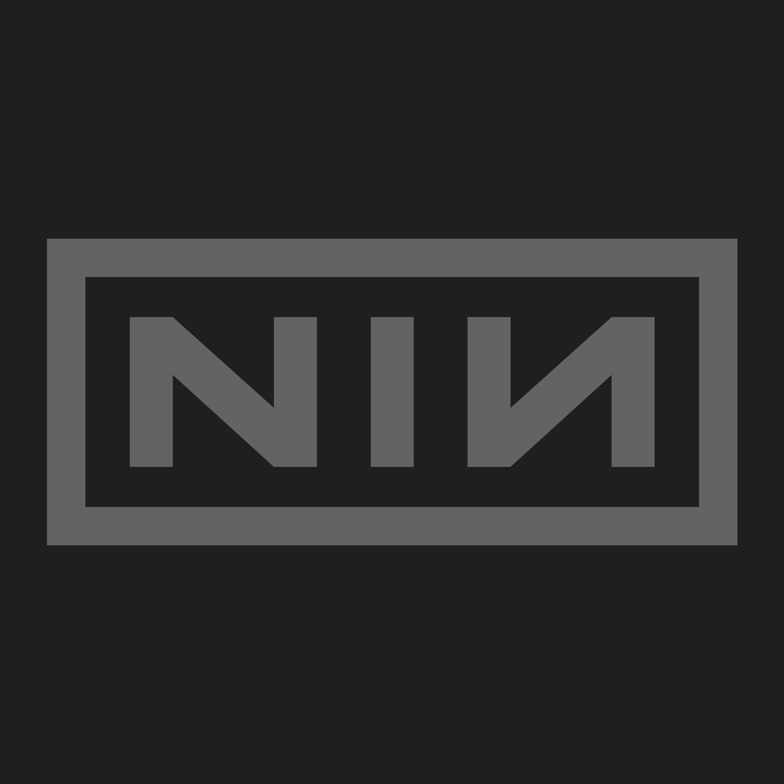 Official Black T Shirt NIN Nine Inch Nails Classic /'White Logo/' All Sizes