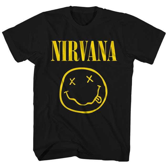 Nirvana T-Shirt | Smiley Face Logo One-Sided Nirvana T-Shirt