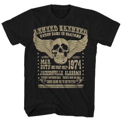 Lynyrd Skynyrd T-Shirt   '74 Alabama Concert Lynyrd Skynyrd Shirt (Reissue)