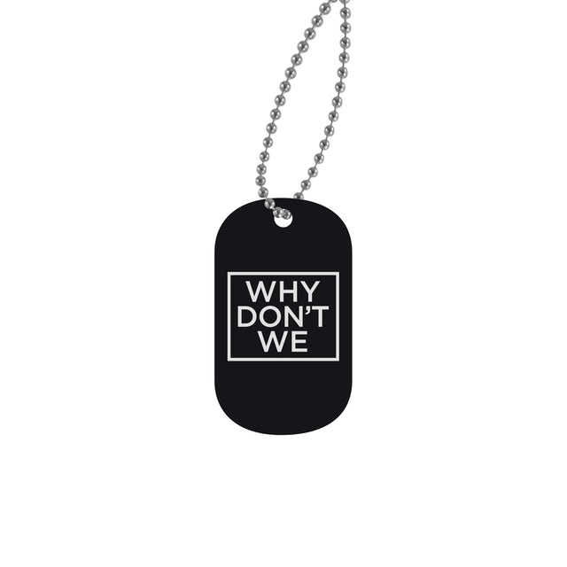 Why Don't We Necklace | Official Logo Dog Tag Why Don't We Necklace