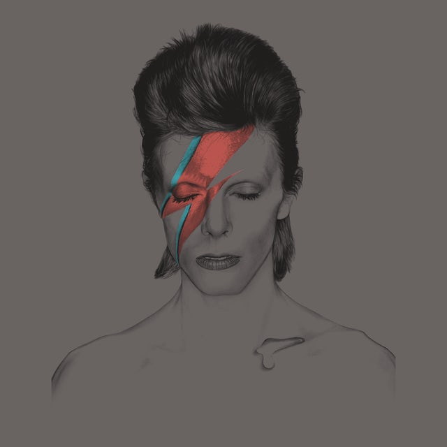 David Bowie T-Shirt   Aladdin Sane David Bowie T-Shirt