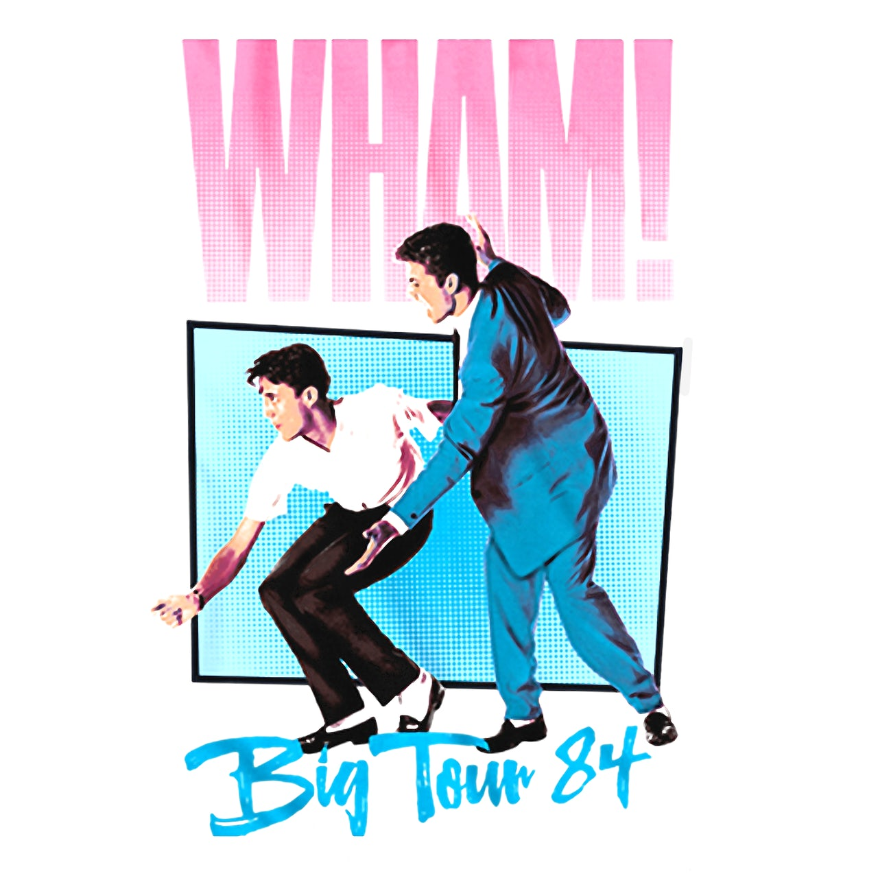 Wham T Shirt Big Tour 84 Wham T Shirt Reissue