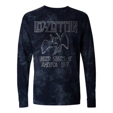 Led Zeppelin Long Sleeve Shirt | US Tour '77 Tie Dye Led Zeppelin Long Sleeve Shirt